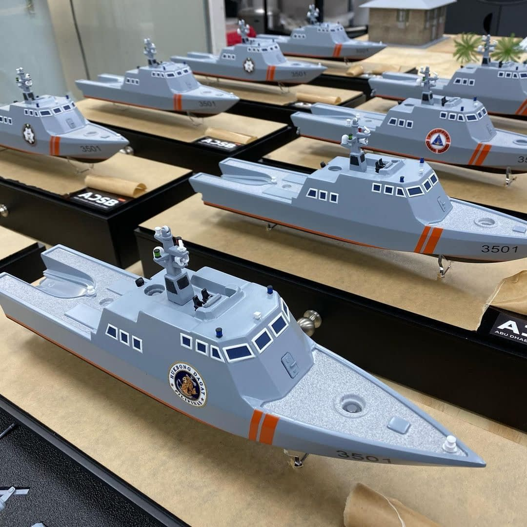High Detailed Scale Model of a Military Vessel